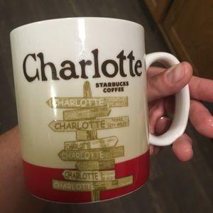 Starbucks Charlotte city signs coffee mug